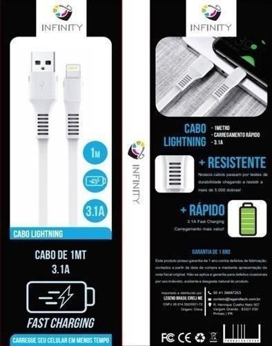 Cabo Para Iphone Ipad Infinity Lightning Carga Rápida