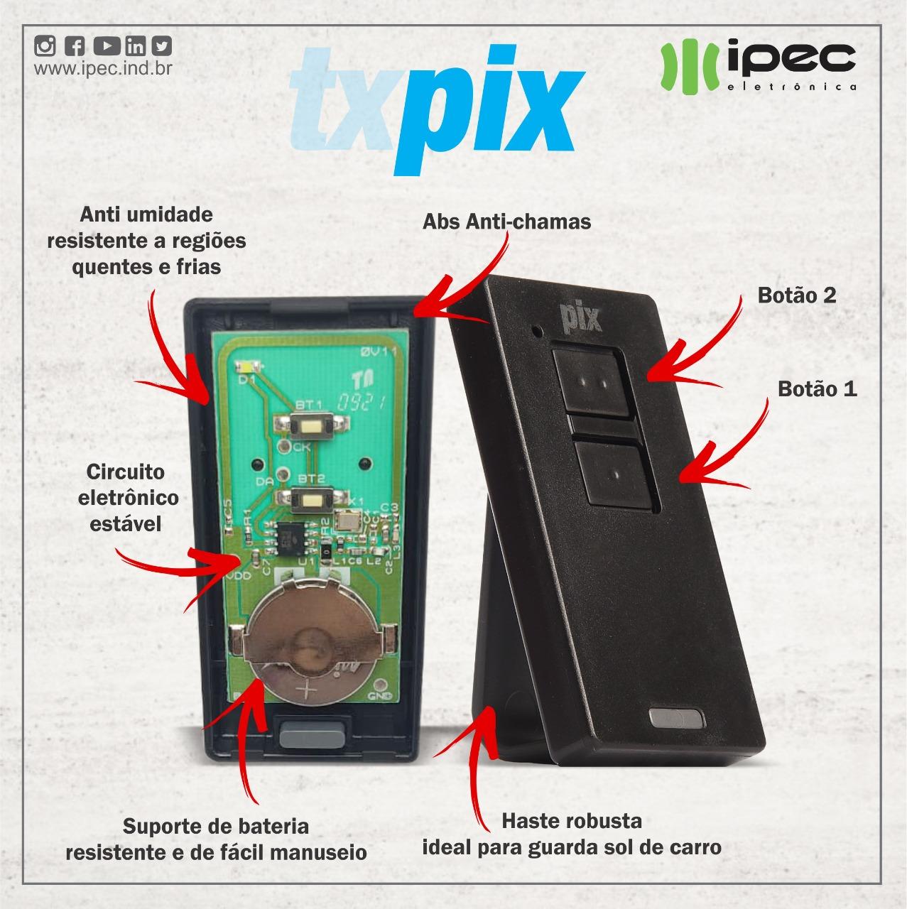 Controle Remoto Transmissor PIX