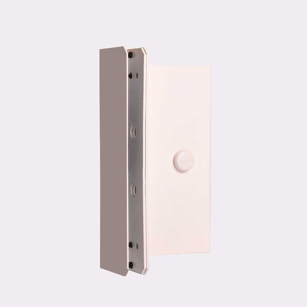 Fechadura Magnética M80 Para Portas De Vidro 1 Folha Deslizante com sensor