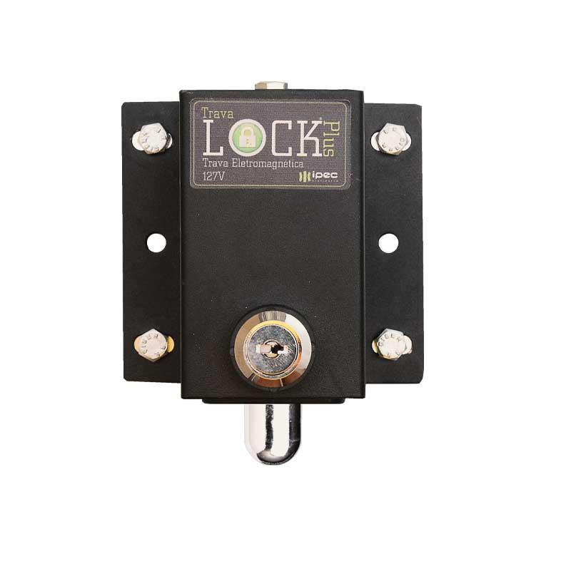Kit 2 Travas Fechadura magnética Lock Plus Motor Portão automático