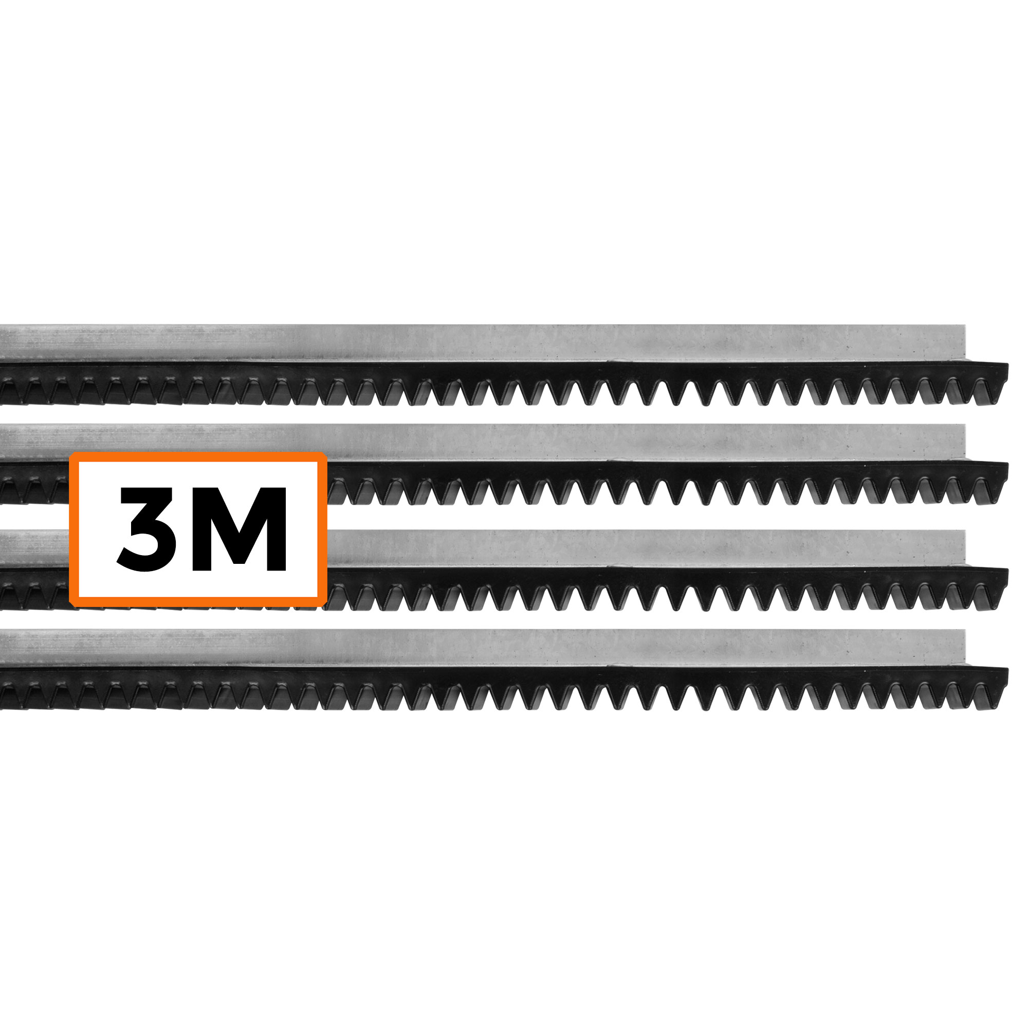 Kit 3 Metros Cremalheira Residencial Deslizante Motor Portão Universal