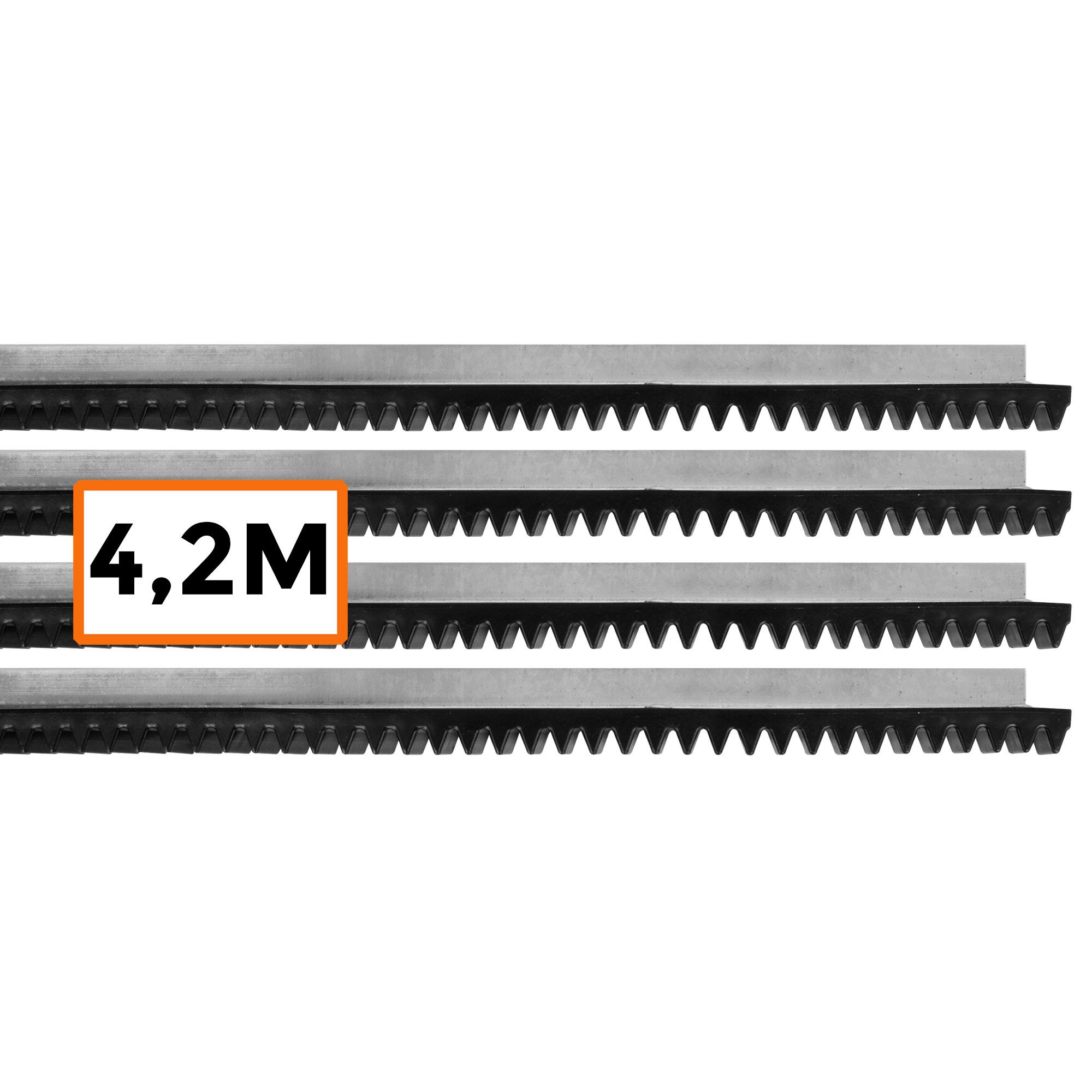Kit 4,2 Metros Cremalheira Residencial Deslizante Motor Portão Universal