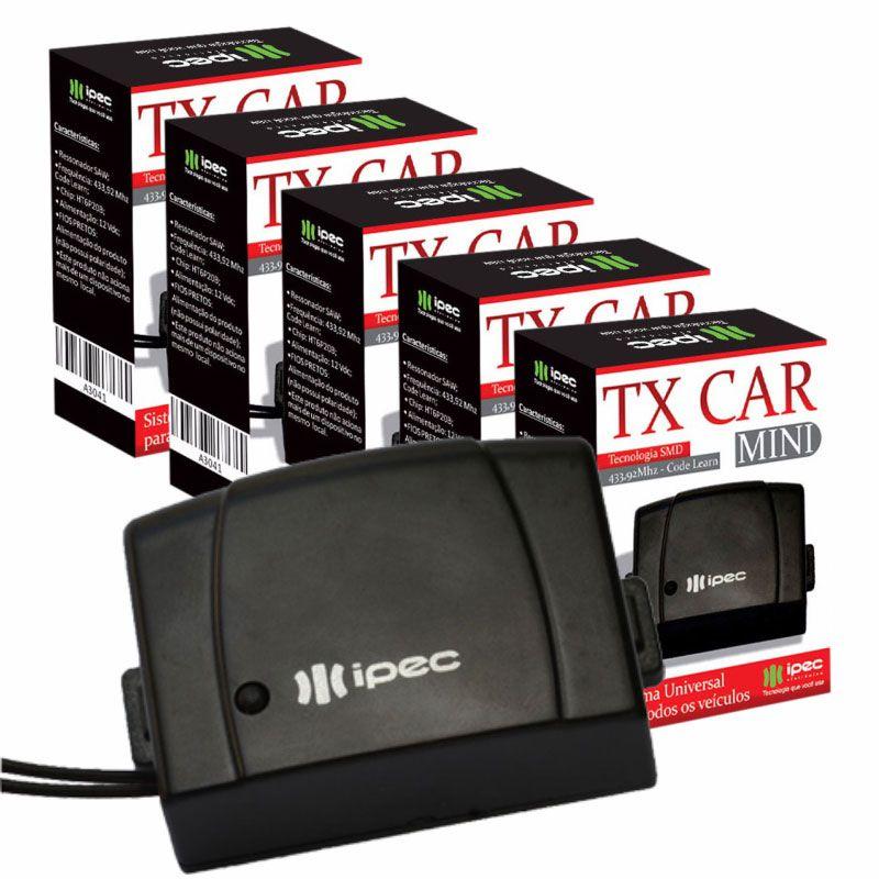 Kit 5 Controles remotos 433,92 Tx Car Farol Carro Portão Alarme Luz