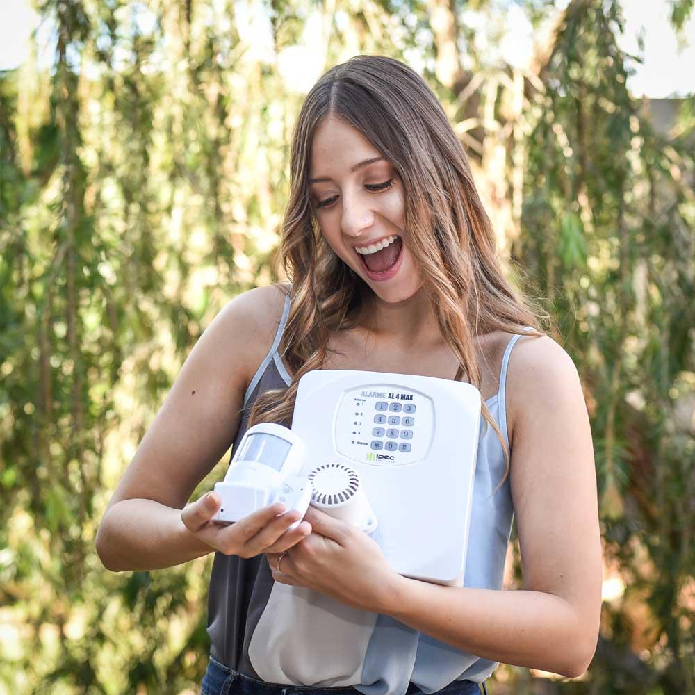Kit de Alarme Sem Fio Max Instala Fácil com Bateria