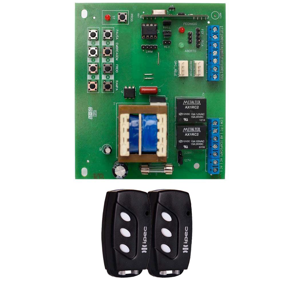 Kit Placa X4 Central Rossi DZ3 DZ4 Nano Sensor Hall com 2 Controles