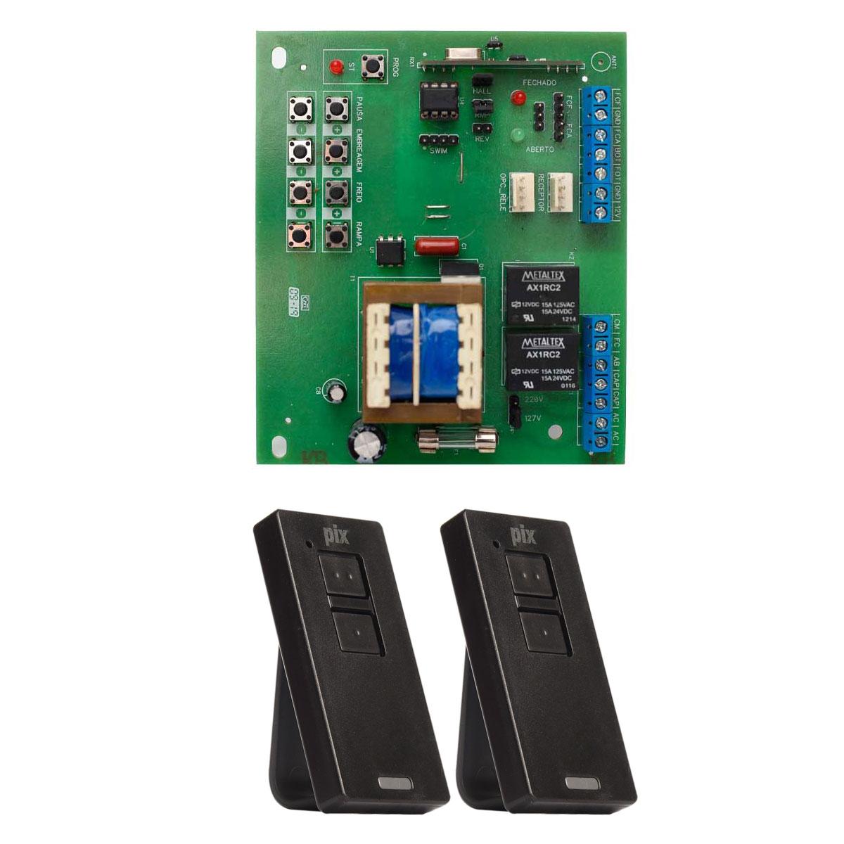 Kit Placa X4 Central Rossi DZ3 DZ4 Nano Sensor Hall com 2 Controles Pix