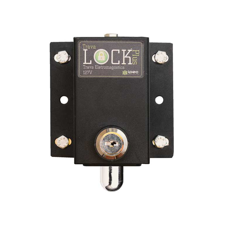 Kit Travas Lock Plus motor portão abertura simultânea rampa regulável