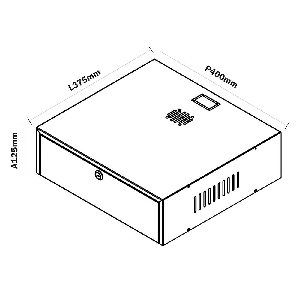Mini Rack A125 Organizador Horizontal 15''