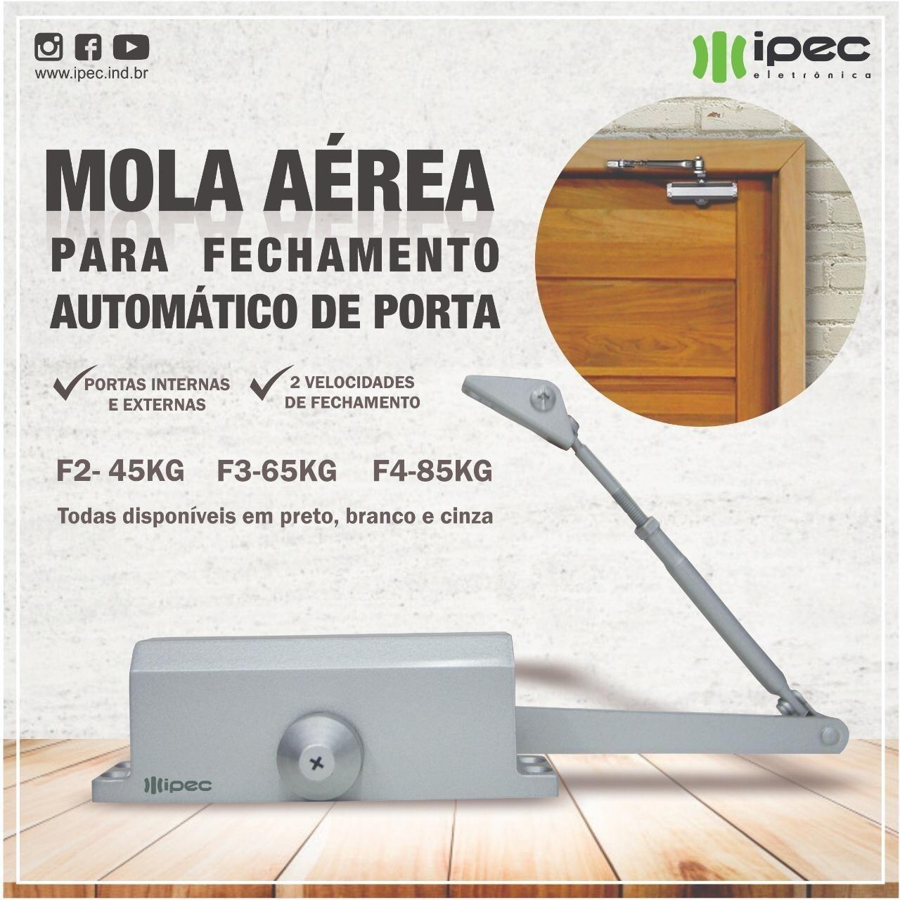 Mola Aérea IPEC para Portas de Madeira Alumínio Ferro e vidro 10 mm Até 45kg