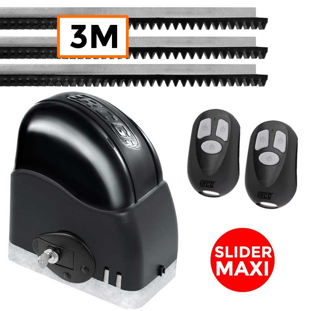 Motor Portão Deslizante Slider Maxi 450Kg RCG 3 Metros de Trilhos