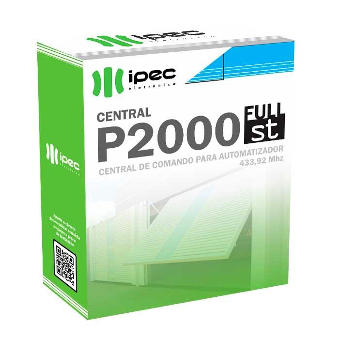 Placa Central P2000 ST Full Ipec de Comando Motor Portão Peccinin 3 Controles Pix