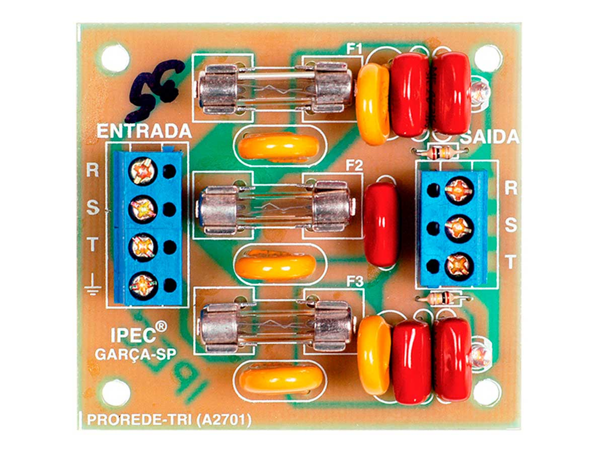 Placa Trifásica Protetora de Rede Elétrica 380V