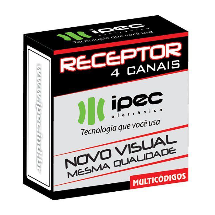 Receptor 4 Canais Independentes Controles Alarmes Portões Condomínio