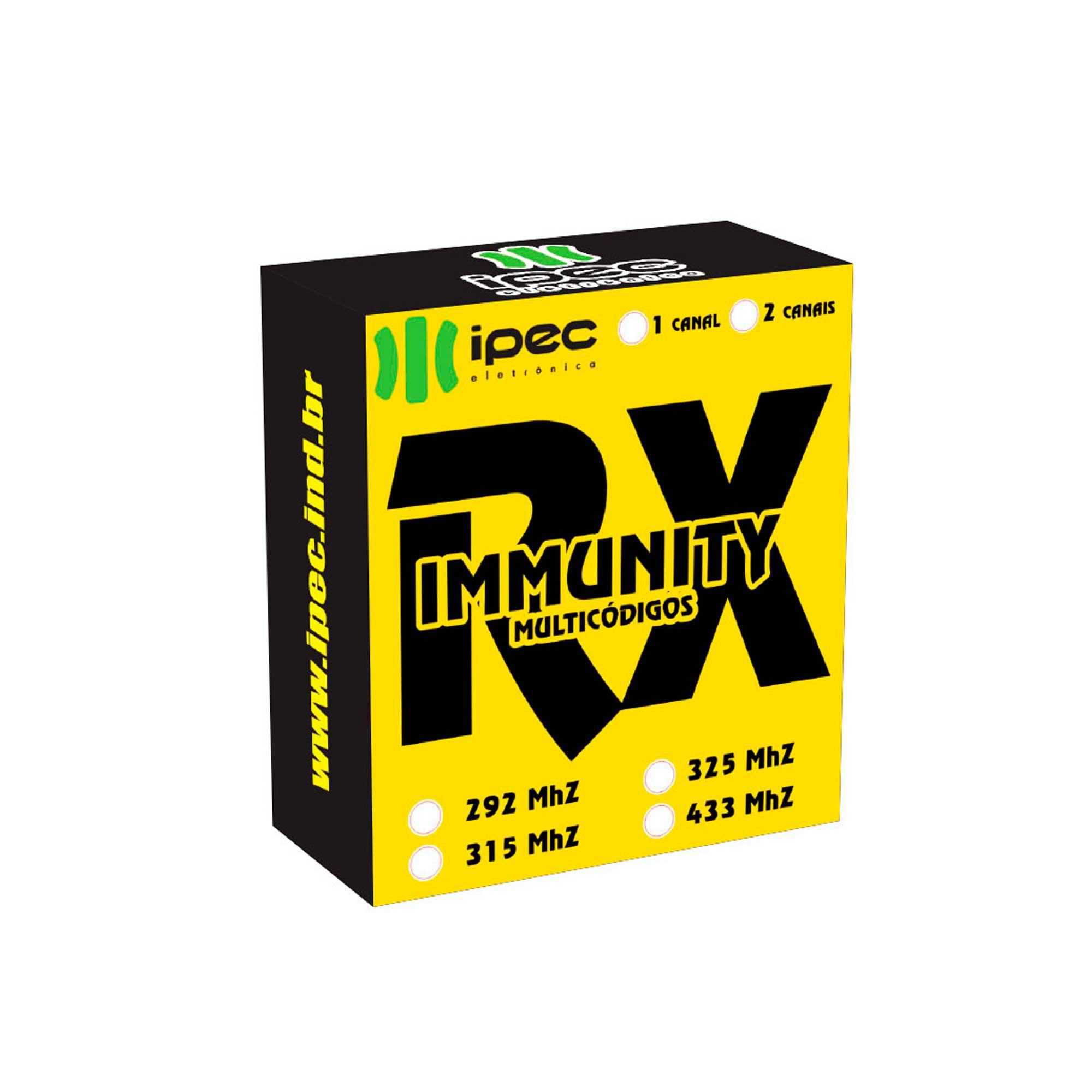 Receptor de Controles Remotos Rx Immunity Mono portão alarme