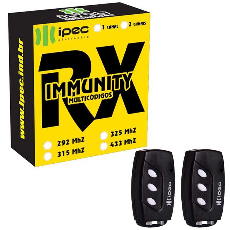 Receptor Motor Portão Rx Immunity Mono 2 Tx Deco 433,92 Mhz