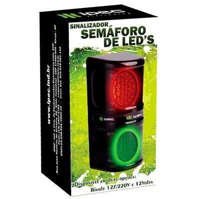 Semáforo Bivolt Liberação de Acesso Verde Vermelho Led