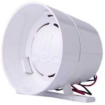 Sirene 1 Som 120 Db 12v Para Alarmes Cercas Elétricas