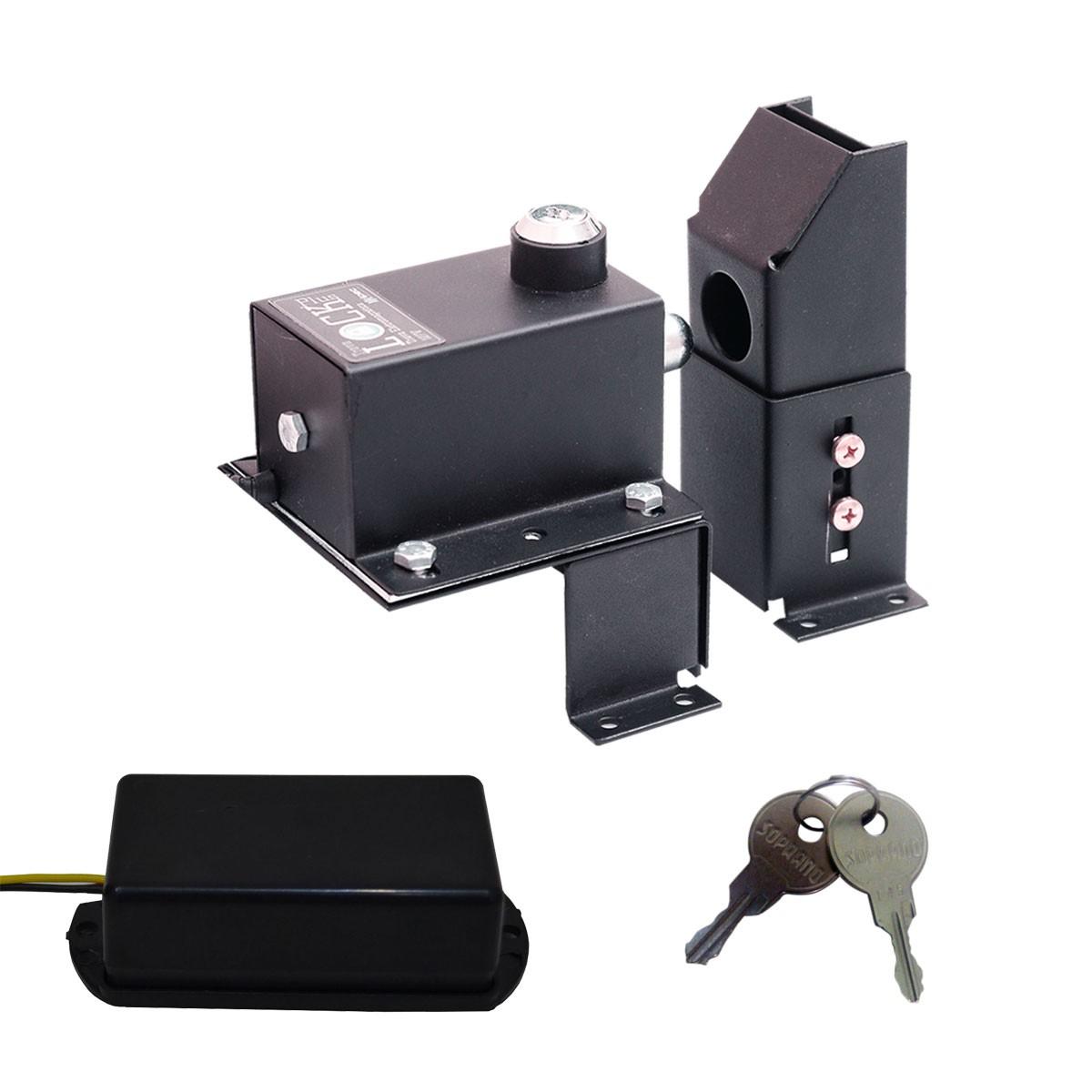 Trava Fechadura Lock Plus Motor Portão automático e Suporte regulável