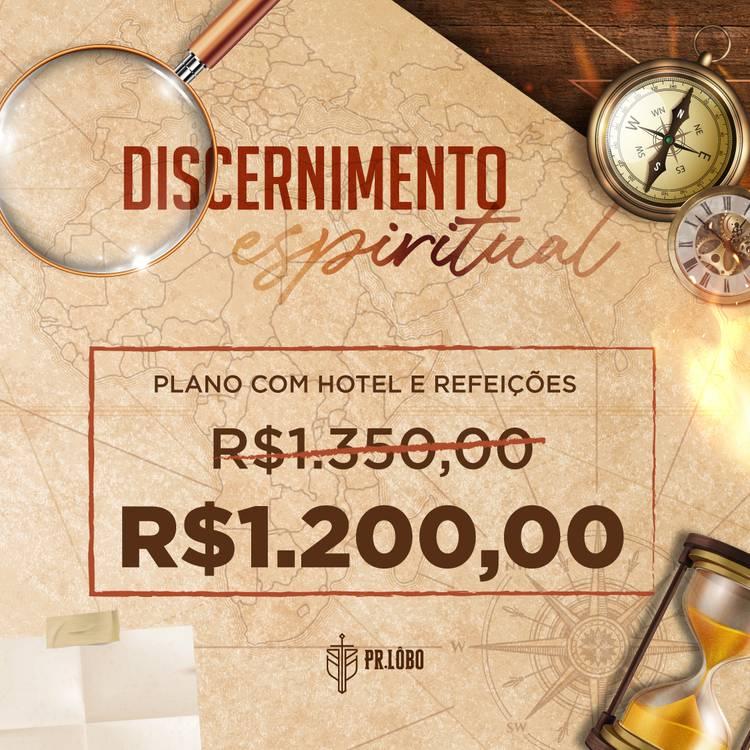 CURSO DISCERNIMENTO ESPIRITUAL COM HOTEL E REFEIÇÃO