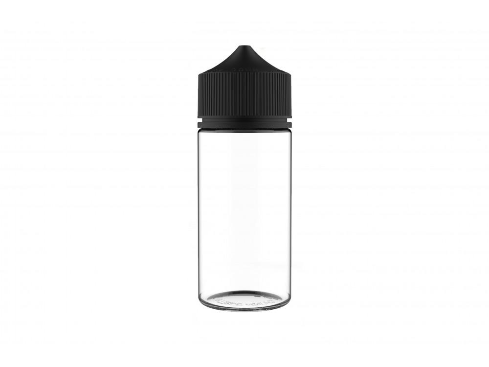 Frasco Chubby 100ml (5 unidades) - Clear/Black