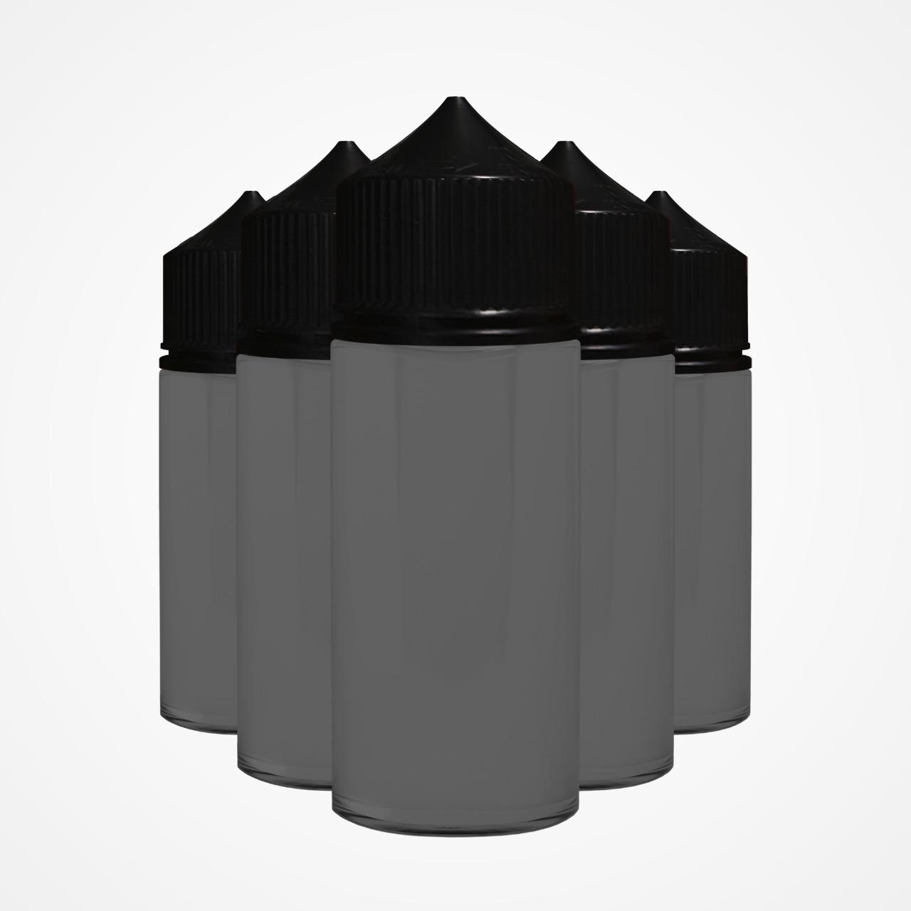 Frasco Chubby 100ml (5 unidades) - Black/Black  - VM Labs