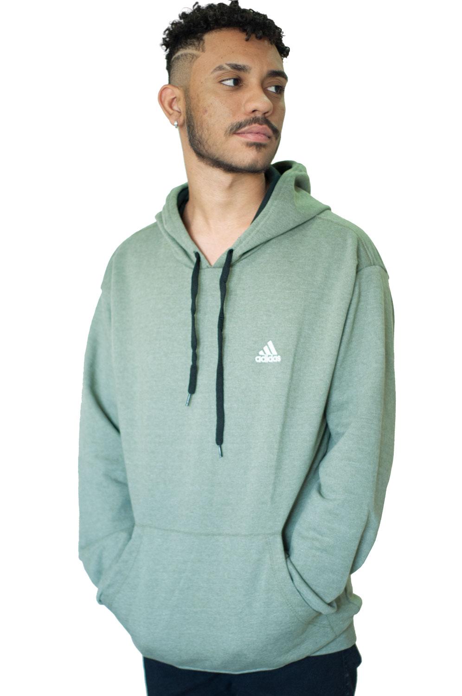 Blusa de Moletom Verde Claro Adidas
