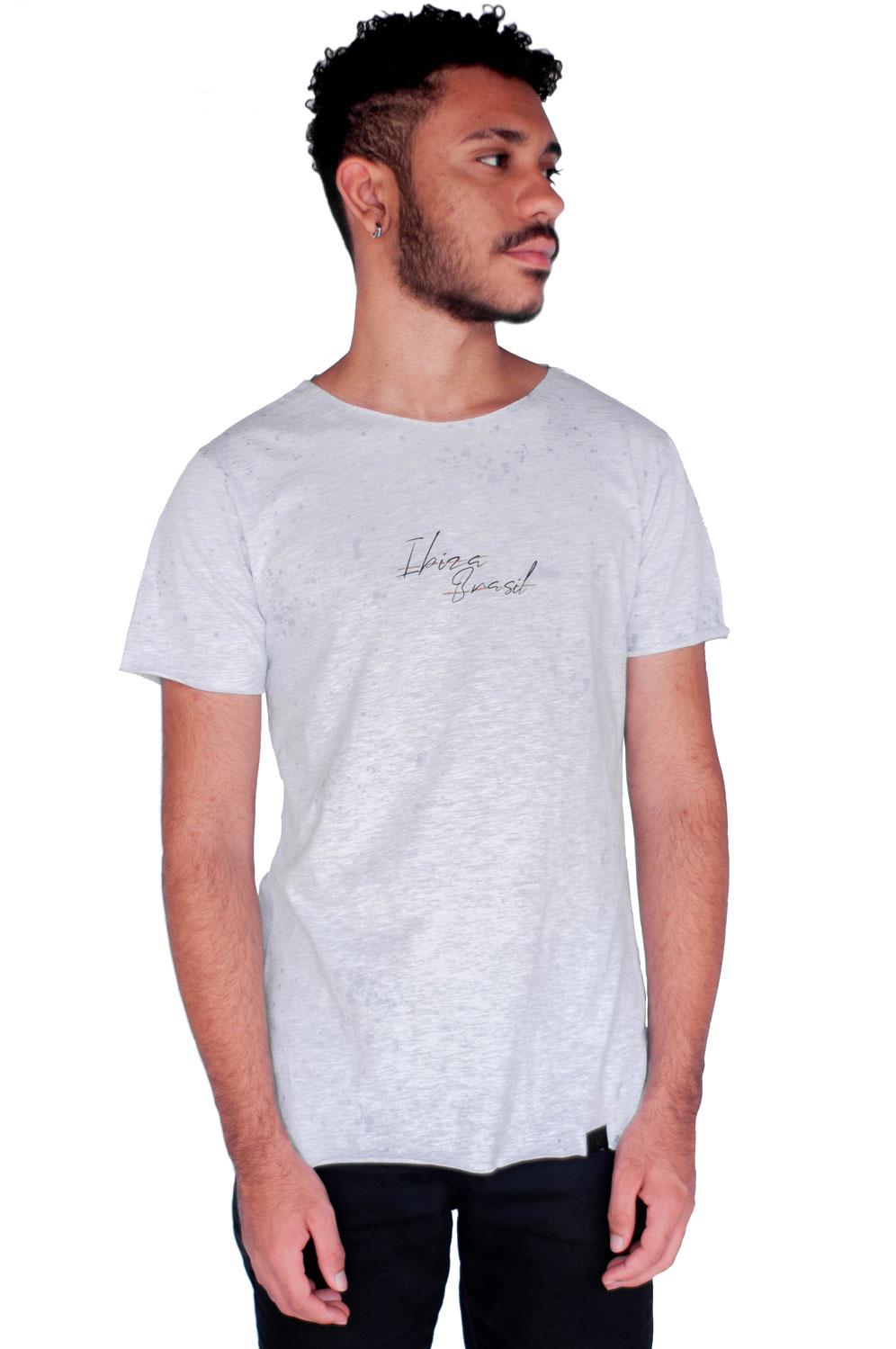 Camiseta Long Style Ibiza Cinza
