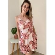 Macaquinho Folhagem Rosa