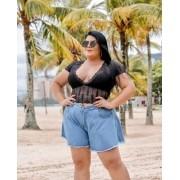 Shorts Godê Plus Size Sem Lycra