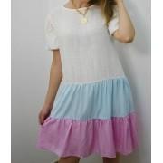 Vestido Mindset Colors Com Manga Bufante