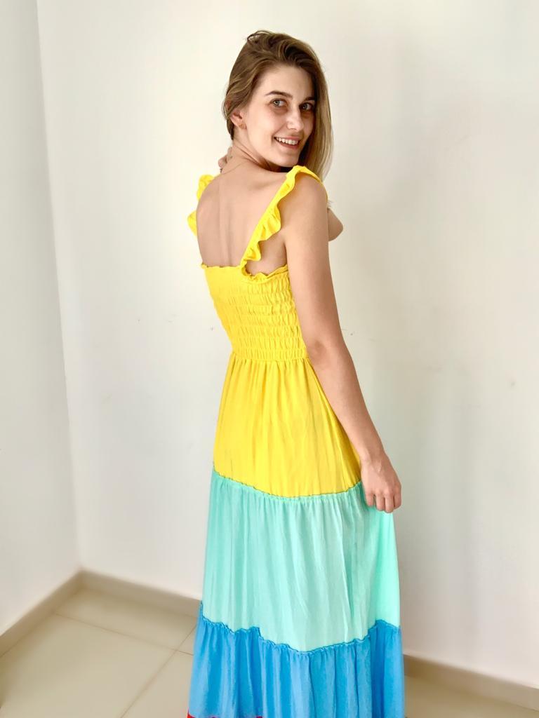 Vestido Longo Viscolinho Colors