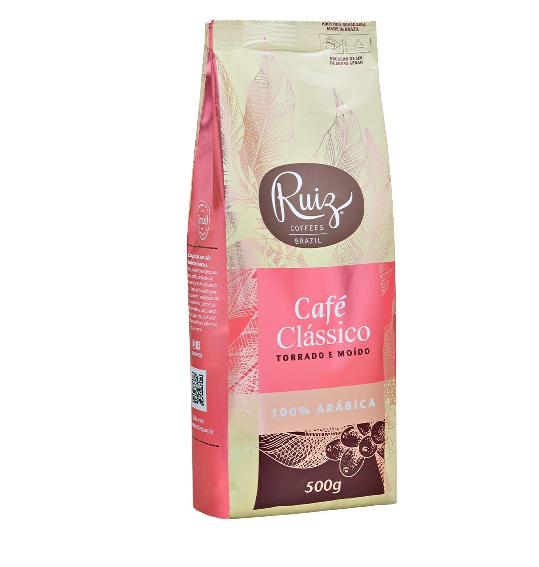 Café Ruiz Clássico - 100% Arábica -  Torrado e Moído - 500g