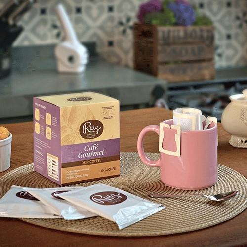 Café Ruiz Gourmet - Drip Coffee 100% Arábica - 10 Sachês