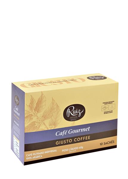 Café Ruiz Gourmet - Giusto 100% Arábica - 10 Sachês