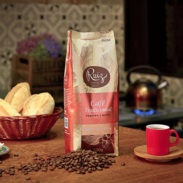 Café Ruiz Tradicional - 100% Arábica -  Torrado e Moído - 500g