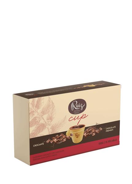 Ruiz Cup - Casquinha Crocante com Chocolate - 15 xícaras
