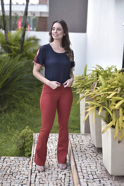 CALÇA SARJA MUITO MAIS FLARE TL - 0062.1