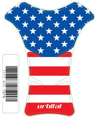 Tank Pad Medio Bandeira USA - Orbital