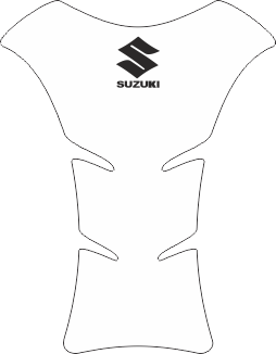 Tank Pad Medio Logo Suzuki Preto Transparente - Orbital