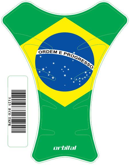 Tank Pad  Race Bandeira Brasil - Orbital