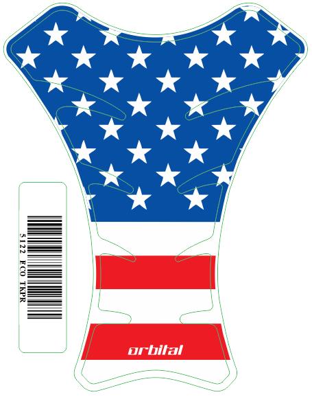 Tank Pad  Race Bandeira USA - Orbital