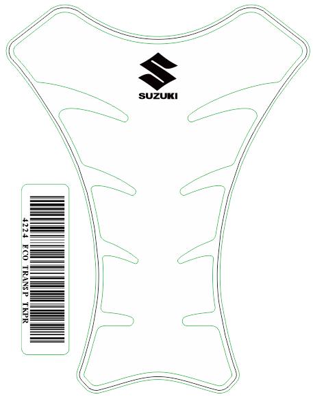 Tank Pad Race Logo Suzuki- Orbital