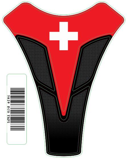 Tank Pad Sport Bandeira Suiça - Orbital
