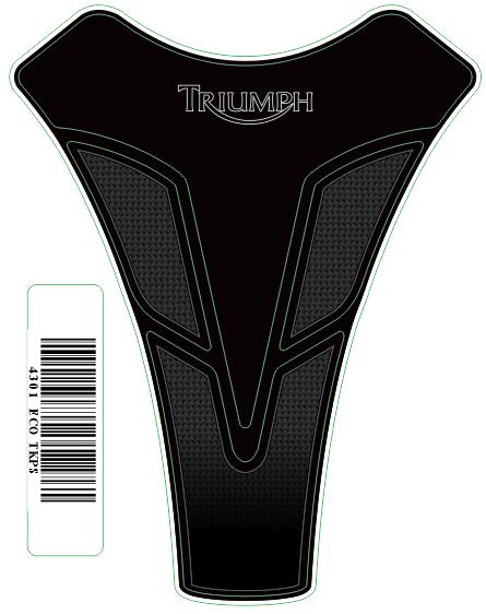 Tank Pad Sport Logo Triumph- Orbital