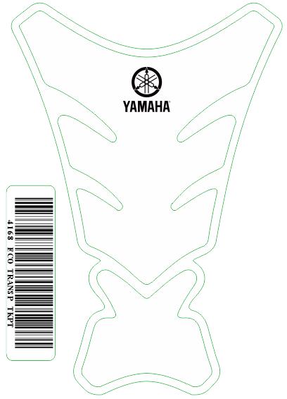 Tank Pad Tech Logo  Yamaha - Orbital