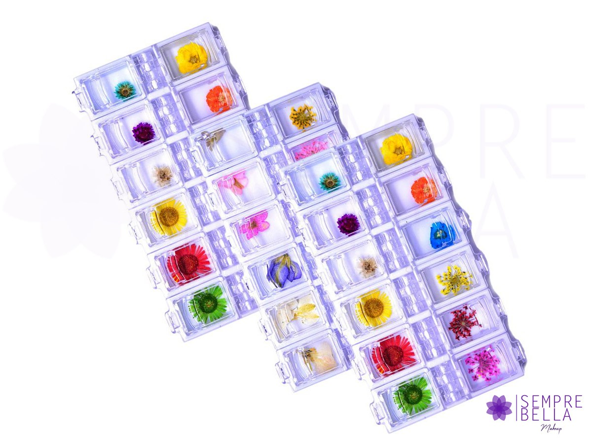 Kit com 12 Flores Secas (sortidas)