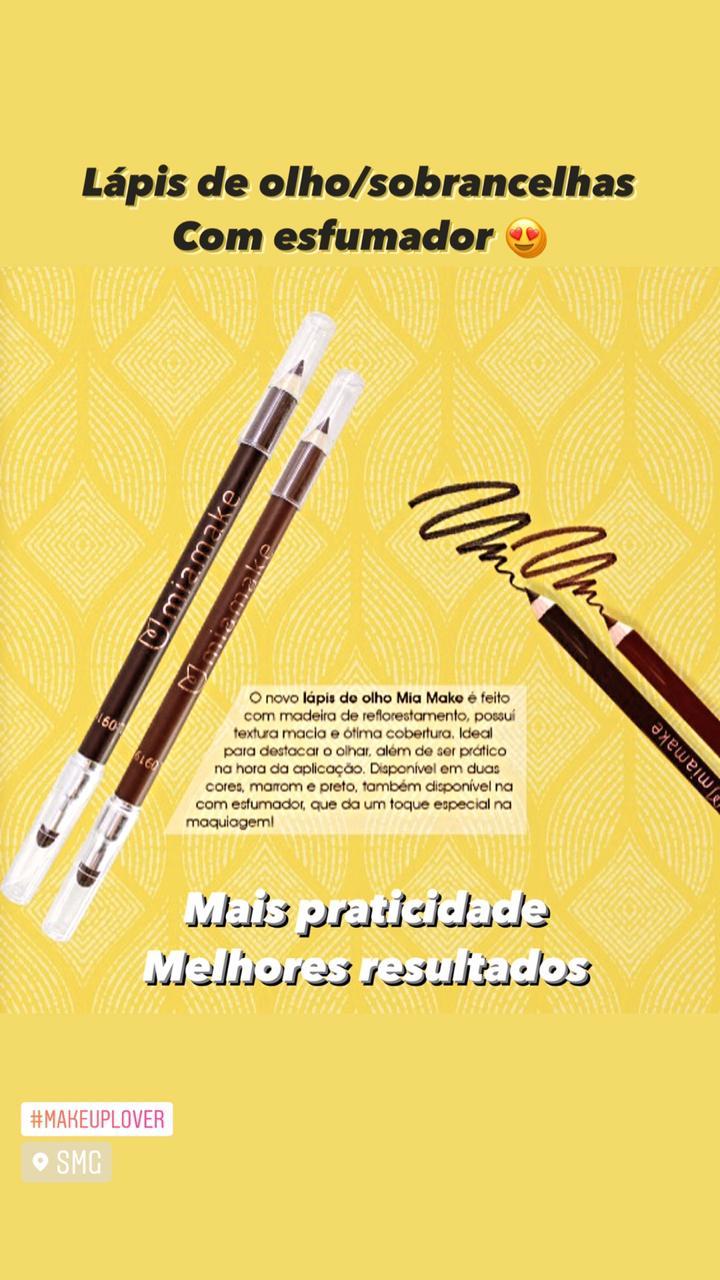 Lápis de Olho Marrom com Esfumador - Mia Make