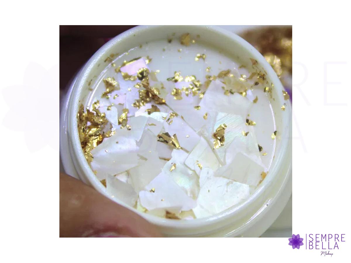 Madre Perola c/ Folhas de Ouro/Prata - (Cores variadas)