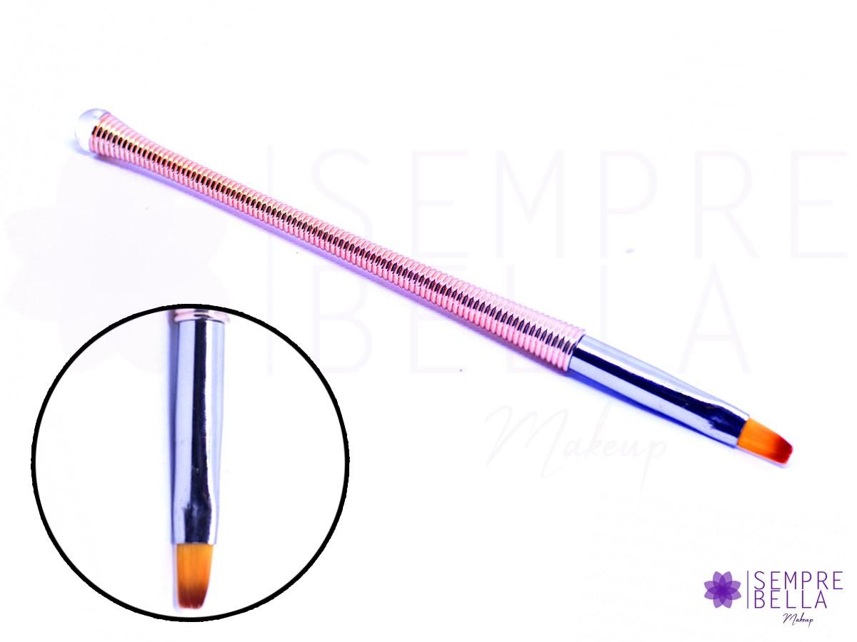 Pincel Para Unha Gel Uv/LED Profissional - Rose