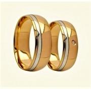 Aliança De Casamento Semi Confort Reto Em Ouro 18k 750